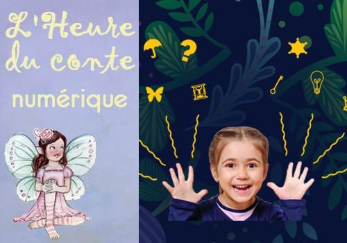 """Heure du conte numérique """" Les livres hybrides : Chouette & Copains."""""""