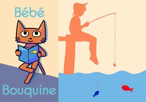 Bébé bouquine « A la pêche ! »