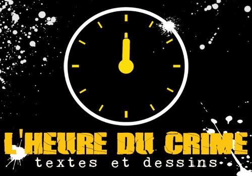 """Exposition """"L'Heure du crime : textes et dessins""""."""