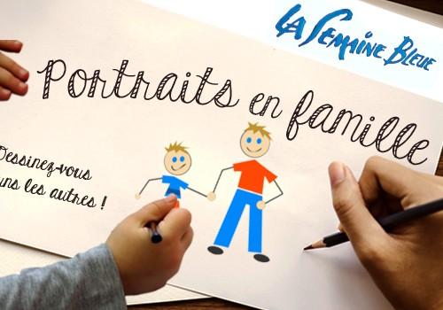"""Atelier dessin """"Portraits de famille"""""""