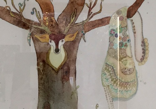 Atelier artistique pour enfants avec Françoise Durand : illustration d'un cahier de rêves