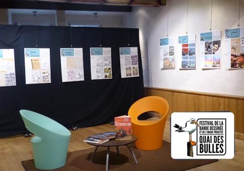 """Exposition """"Réaliser une bande dessinée"""" avec le festival Quai des Bulles"""