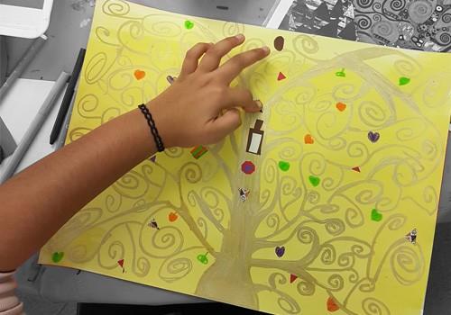 Atelier artistique pour enfants avec Françoise Durand : à la manière de Klimt