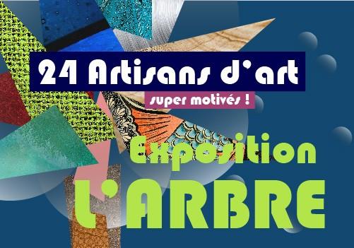 Exposition l'Arbre par 24 artisans d'art de Bretagne